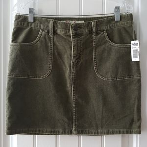 NWT Warehouse One Jeans Olive Corduroy Skirt (8)